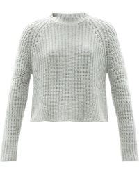 Brock Collection Sophie Rib-knitted Cashmere Sweater - Blue