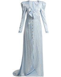 Rebecca de Ravenel - Cheeta-print Silk-satin Gown - Lyst
