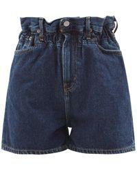 Ganni X Levi's Paperbag Denim Shorts - Blue