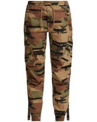 Maharishi - Camouflage Print Cotton Cargo Track Pants - Lyst