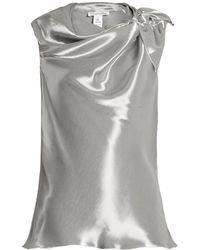 Oscar de la Renta - Cowl-neck Sleeveless Top - Lyst