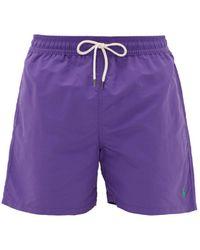 Polo Ralph Lauren Logo-embroidered Shell Swim Shorts - Purple