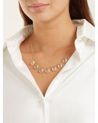 Susan Foster Rose-quartz & 18kt Gold Necklace - Metallic