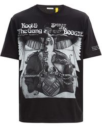 7 MONCLER FRAGMENT Spirit Of The Boogieプリント コットンtシャツ - ブラック