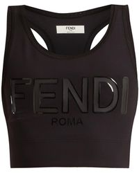 Fendi - Logo-print Performance Bra - Lyst