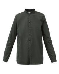 Toogood The Botanist Stand-collar Cotton-poplin Shirt - Green
