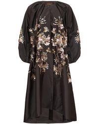 Biyan Raquela Sequin-embroidered Taffeta Coat - Black