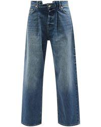 Raey Fold Organic-cotton Dad Baggy Boyfriend Jeans - Blue