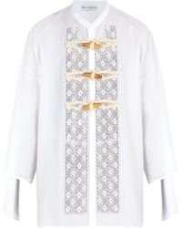 JW Anderson - Broderie Anglaise Cotton Shirt - Lyst