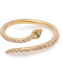 Ileana Makri - Python Diamond & 18kt Gold Ring - Lyst
