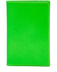 Comme des Garçons Super Fluo Neon-leather Cardholder - Green