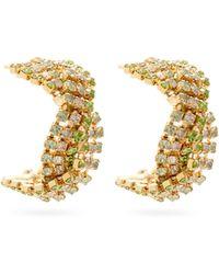 Rosantica - Chevron Crystal-embellished Earrings - Lyst