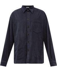 Acne Studios Satlent Cotton-blend Corduroy Shirt - Blue