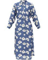 Apiece Apart - Betina Floral-print Organic-cotton Shirt Dress - Lyst
