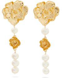 Elise Tsikis - Gismona Pearl & 18kt Gold-plated Earrings - Lyst