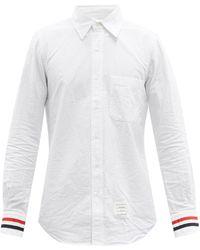 Thom Browne トリコロールストライプ オックスフォードシャツ - ホワイト