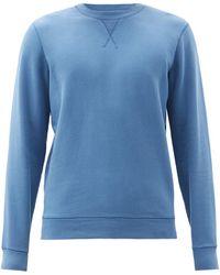 Sunspel コットスウェットシャツ - ブルー