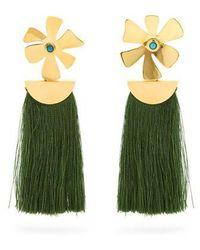 Lizzie Fortunato - Daisy Crater Tassel Earrings - Lyst