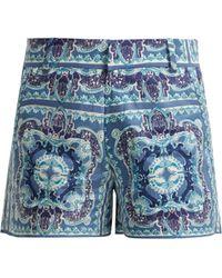 Le Sirenuse - Printed Shorts - Lyst