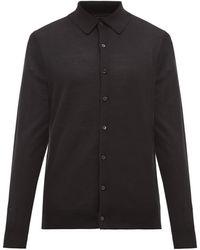 Paul Smith Knitted Merino Wool Cardigan - Black