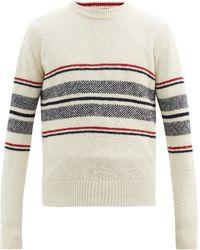 Thom Browne ボーダー ウールモヘアセーター - マルチカラー