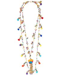 Rosantica By Michela Panero - Cancun Multi-stone And Pompom Necklace - Lyst