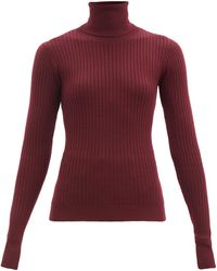 Dodo Bar Or Tuta Roll-neck Ribbed-knit Wool Jumper - Multicolour