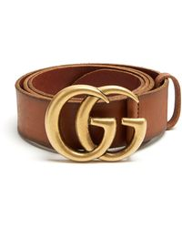 Gucci - Star And Bee-print Leather Belt - Lyst