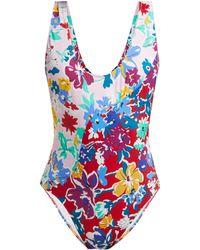 Araks Teale Floral Print Swimsuit - Blue