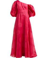 Carolina Herrera Fil-coupé Silk-blend Organza Gown - Red
