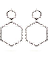 Isabel Marant - Here It Is Crystal Hexagon-drop Earrings - Lyst