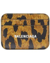 Balenciaga Leopard-print Leather Cardholder - Multicolor