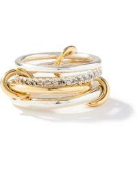 Spinelli Kilcollin ニンバス ダイヤモンド 18kゴールド&スターリングシルバーリング - メタリック