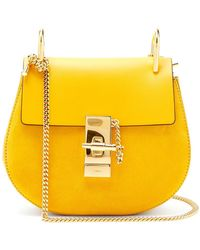 Chloé - Drew Mini Leather And Suede Cross Body Bag - Lyst