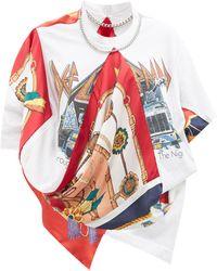 Junya Watanabe X Versace デフレパード バロックプリント Tシャツ - マルチカラー