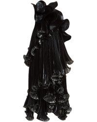 Givenchy One-shoulder Ruffled Lurex Silk-blend Dress - Black
