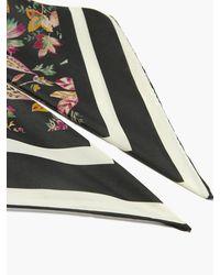 Isabel Marant スカーフィリ フローラル シルクツイルスカーフ - ブラック