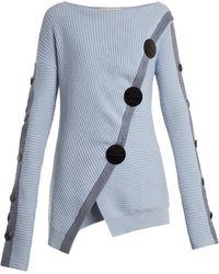 ROKSANDA - Temir Cut-out Back Buttoned Sweater - Lyst