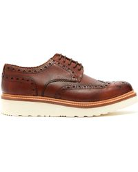 Grenson - Archie Raised Sole Leather Oxford Brogues - Lyst