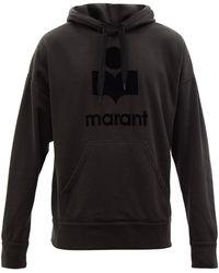 Isabel Marant Sweat-shirt en coton mélangé à capuche Miley - Noir