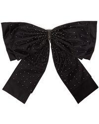 Erdem Crystal-embellished Oversized Bow Belt - Black
