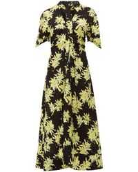Proenza Schouler スプラッター フローラル ジョーゼットドレス - ブラック