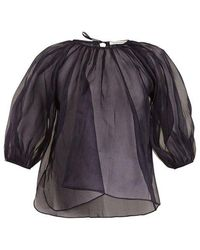 Cecile Bahnsen - Astrid Puff-sleeved Cotton Top - Lyst