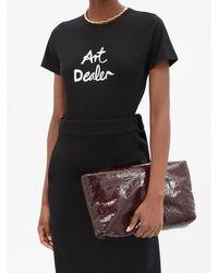 Bella Freud プリント コットンtシャツ - ブラック
