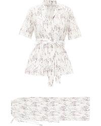 Emilia Wickstead Fifi Floral-print Cotton Pyjamas - White