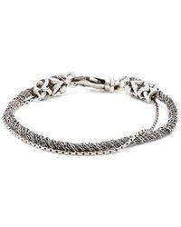 Emanuele Bicocchi - Double-chain Sterling-silver Bracelet - Lyst