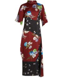 Acne Studios - Dilona Floral-print Satin Dress - Lyst