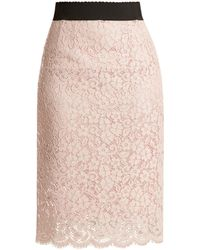 Dolce & Gabbana - Cordonetto-lace Pencil Skirt - Lyst