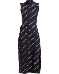 sold worldwide crazy price closer at Logo-print Ribbed Wrap Midi Dress