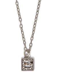 Gucci G-motif Sterling-silver Necklace - Metallic